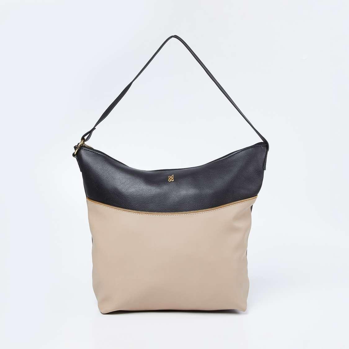 BAGGIT Colourblock Hobo Bag