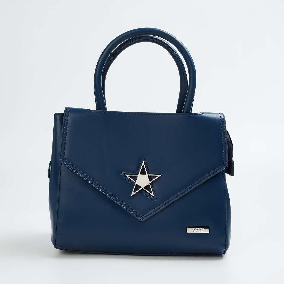 CODE Embellished Zip-Closure Handbag