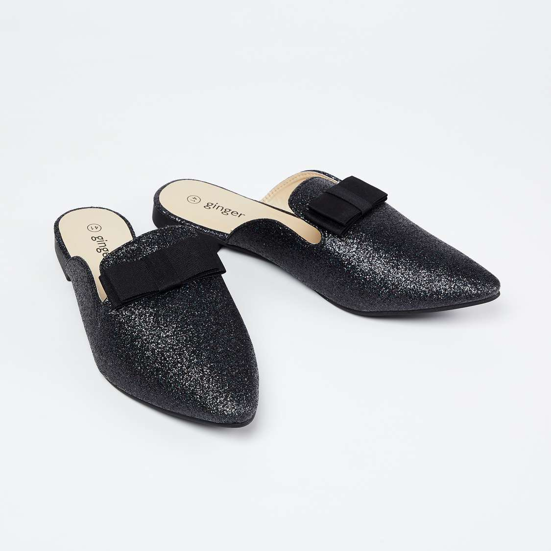 GINGER Shimmery Mules with Applique types of shoes for women