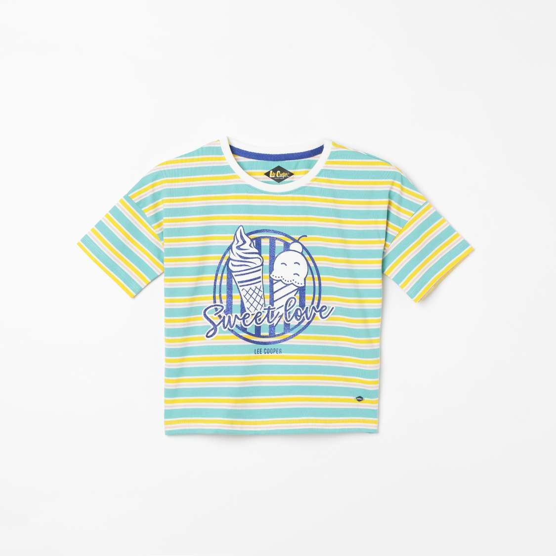 LEE COOPER JUNIORS Striped Extended Sleeves T-shirt - top clothing brands