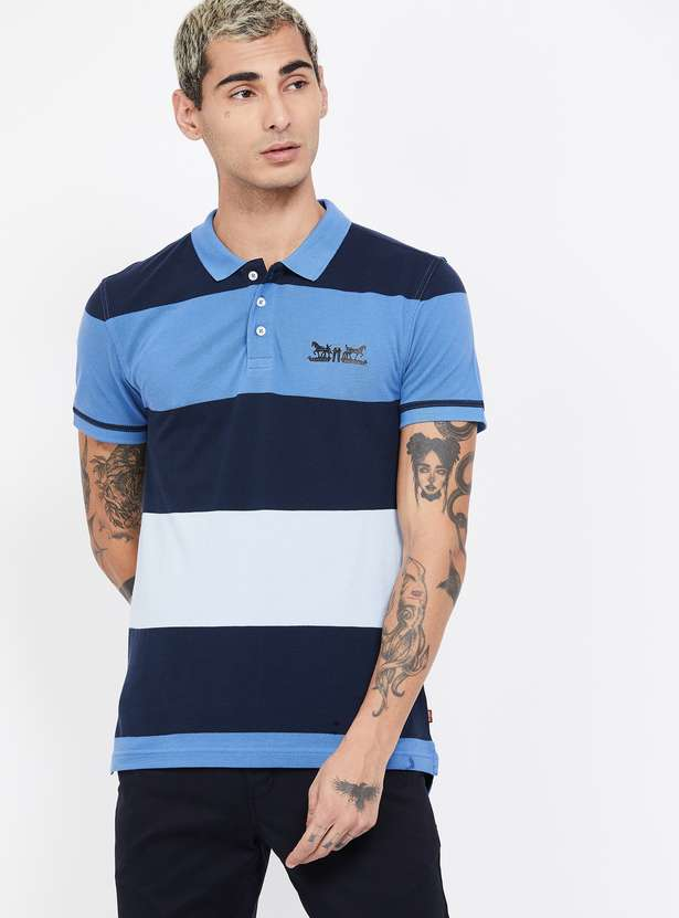 LEVI'S Striped Slim Fit Polo T-shirt