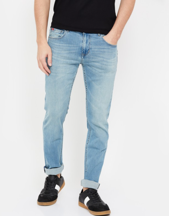 LEE COOPER Men Stonewashed Skinny Fit Jeans - best brands of jeans in India