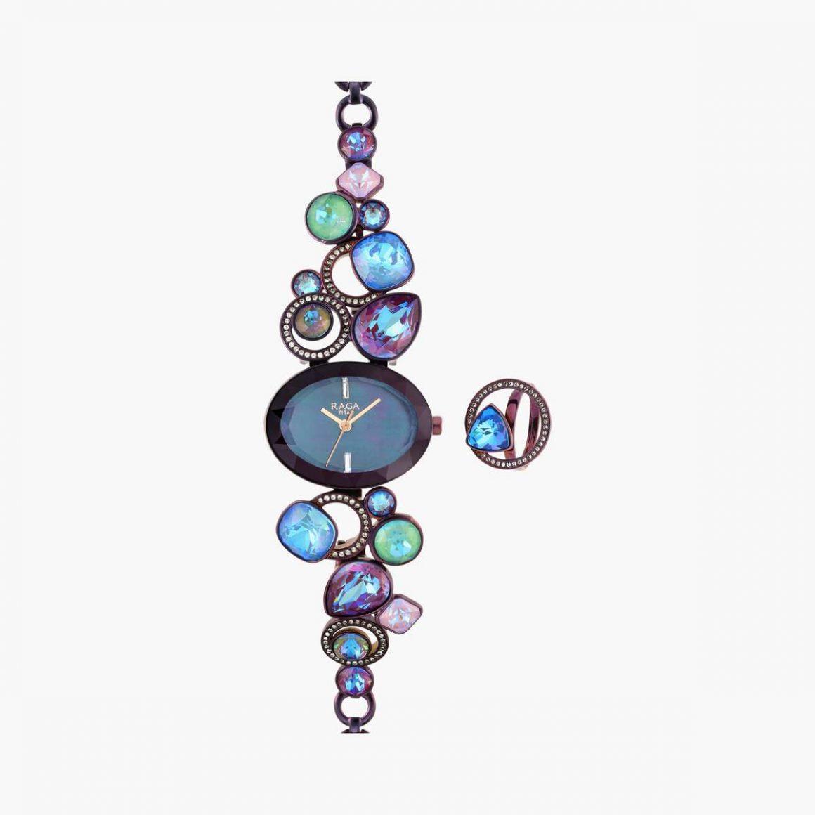TITAN Raga Women Embellished Analog Watch with Ring - 95126QM01F