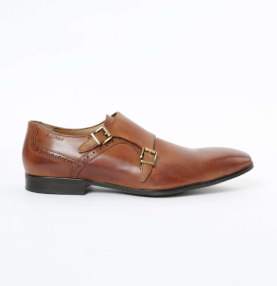 RUOSH Solid Monk-Strap Formal Shoes