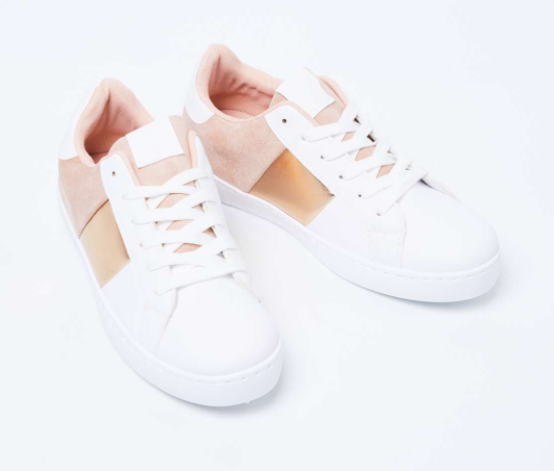 GINGER Low-Top Colourblock Casual Shoes