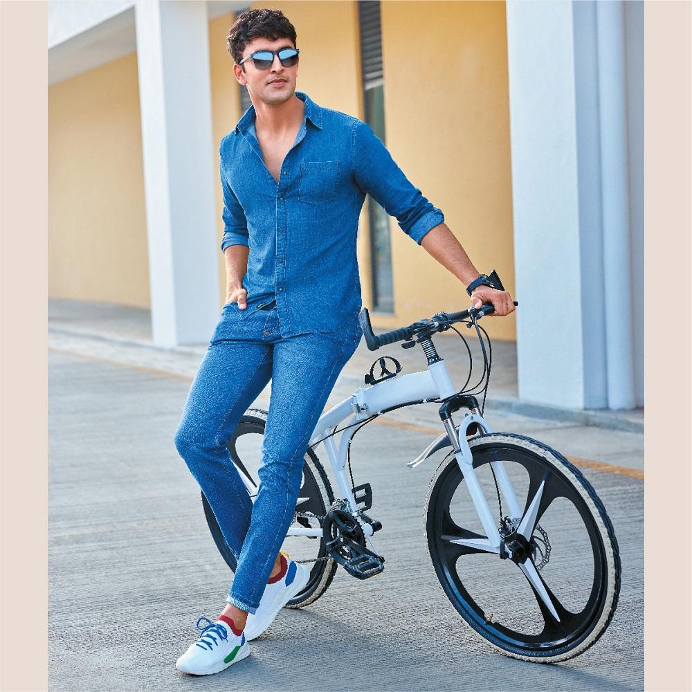 Blue Denim Shirt and Blue Jeans