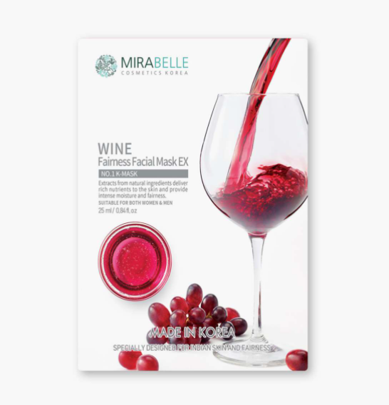 MIRABELLE Korea Wine Fairness Facial Sheet Mask