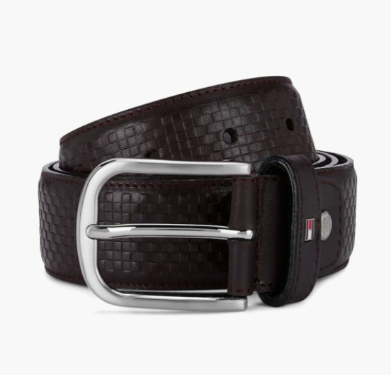 TOMMY HILFIGER Genuine Leather Textured Belt Valentine's Day Gifts for Him