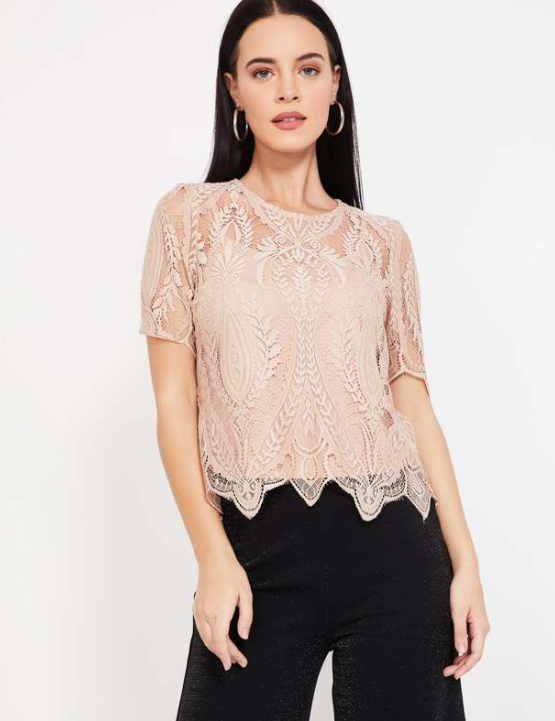 VERO MODA Lace Top with Camisole - tops to wear with long skirts