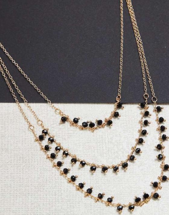 TONIQ Women Beaded Multi-Strand Necklace