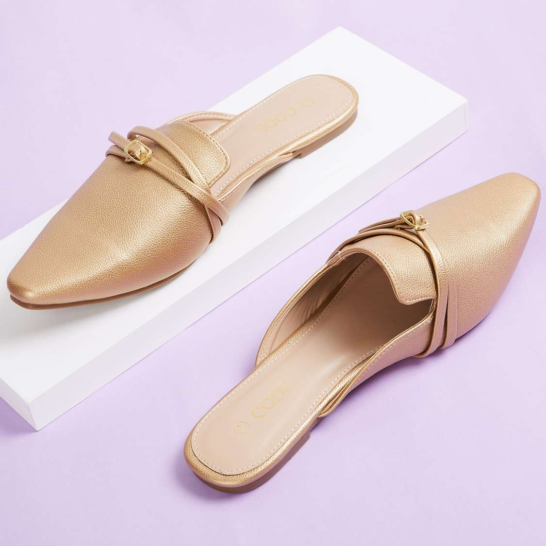 CODE Women Solid Mules