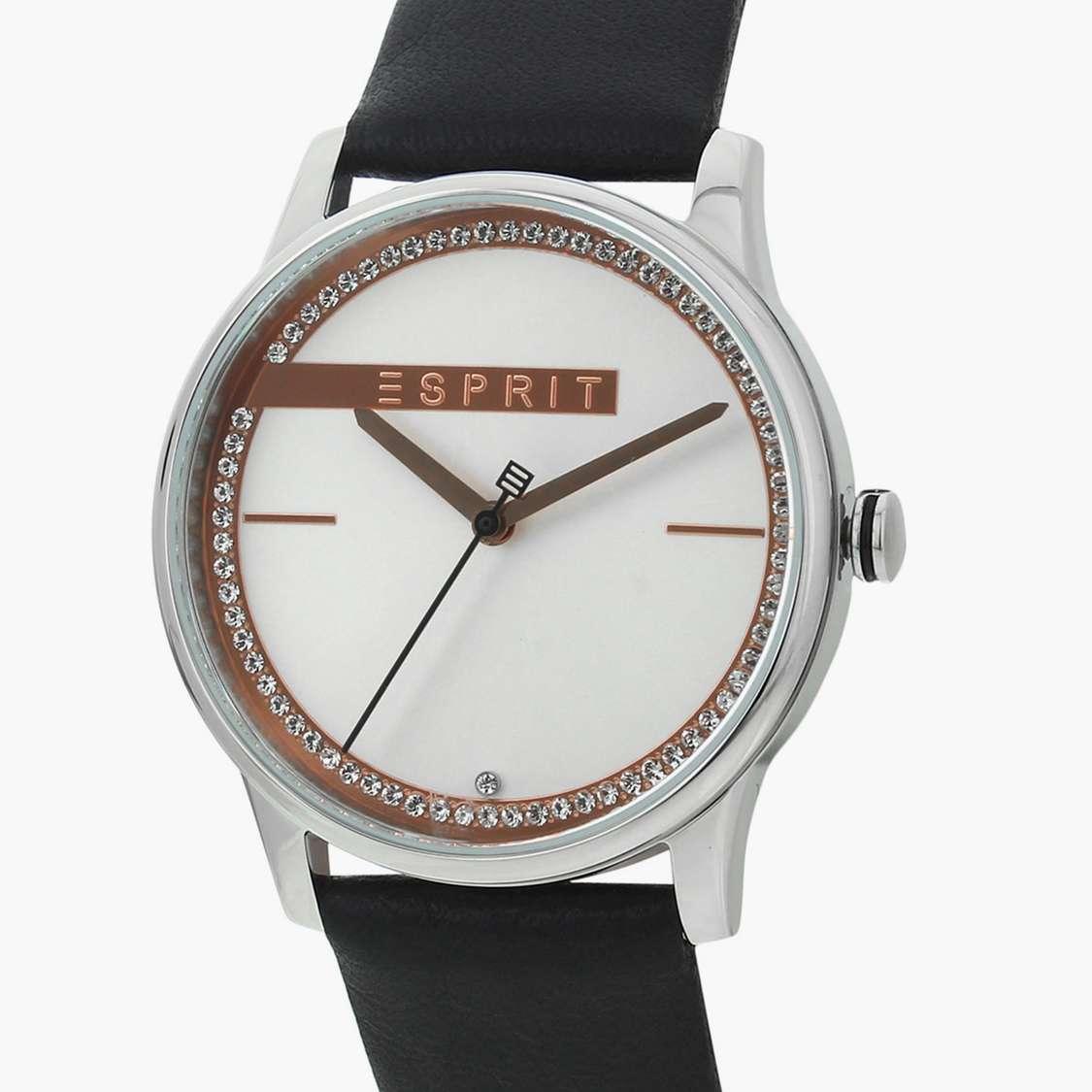 ESPRIT Women Analog Watch with Leather Strap - ES1L082L0015