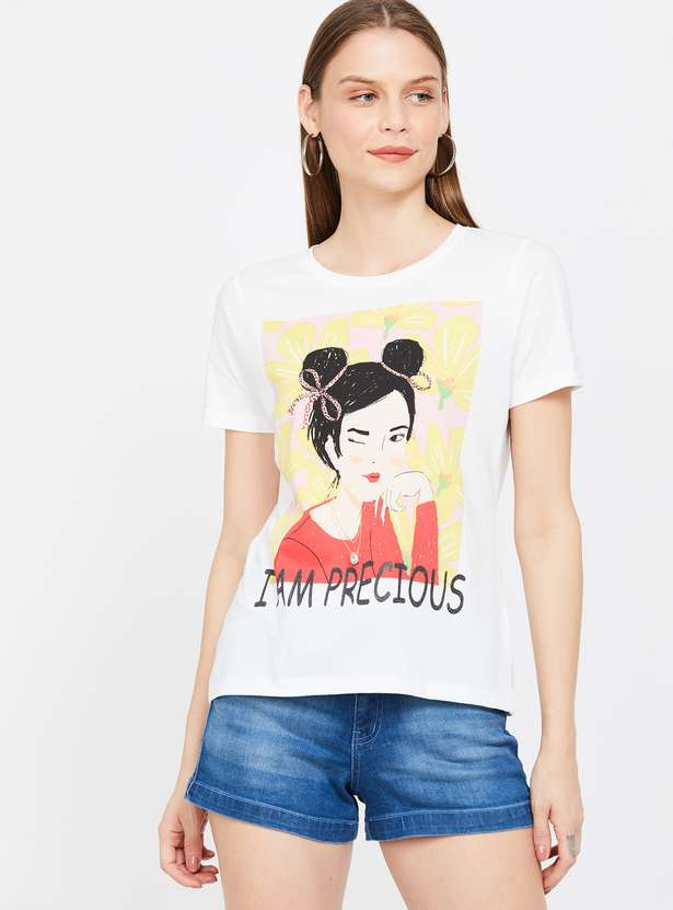 GINGER Graphic Print Short Sleeves T-shirt
