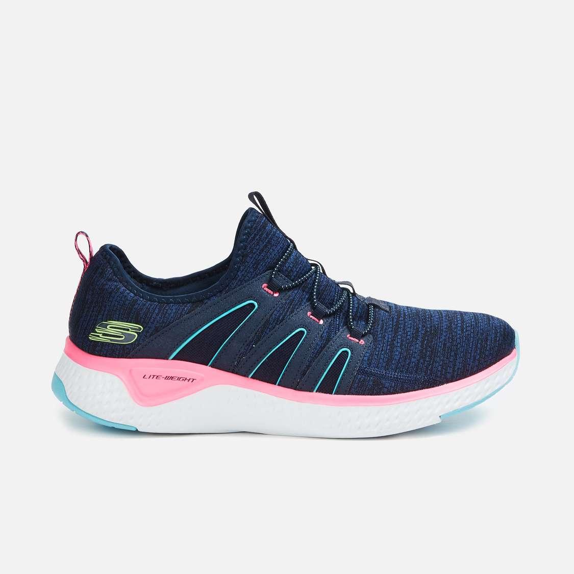 SKECHERS Women Mesh Lace-Up Sports Shoes
