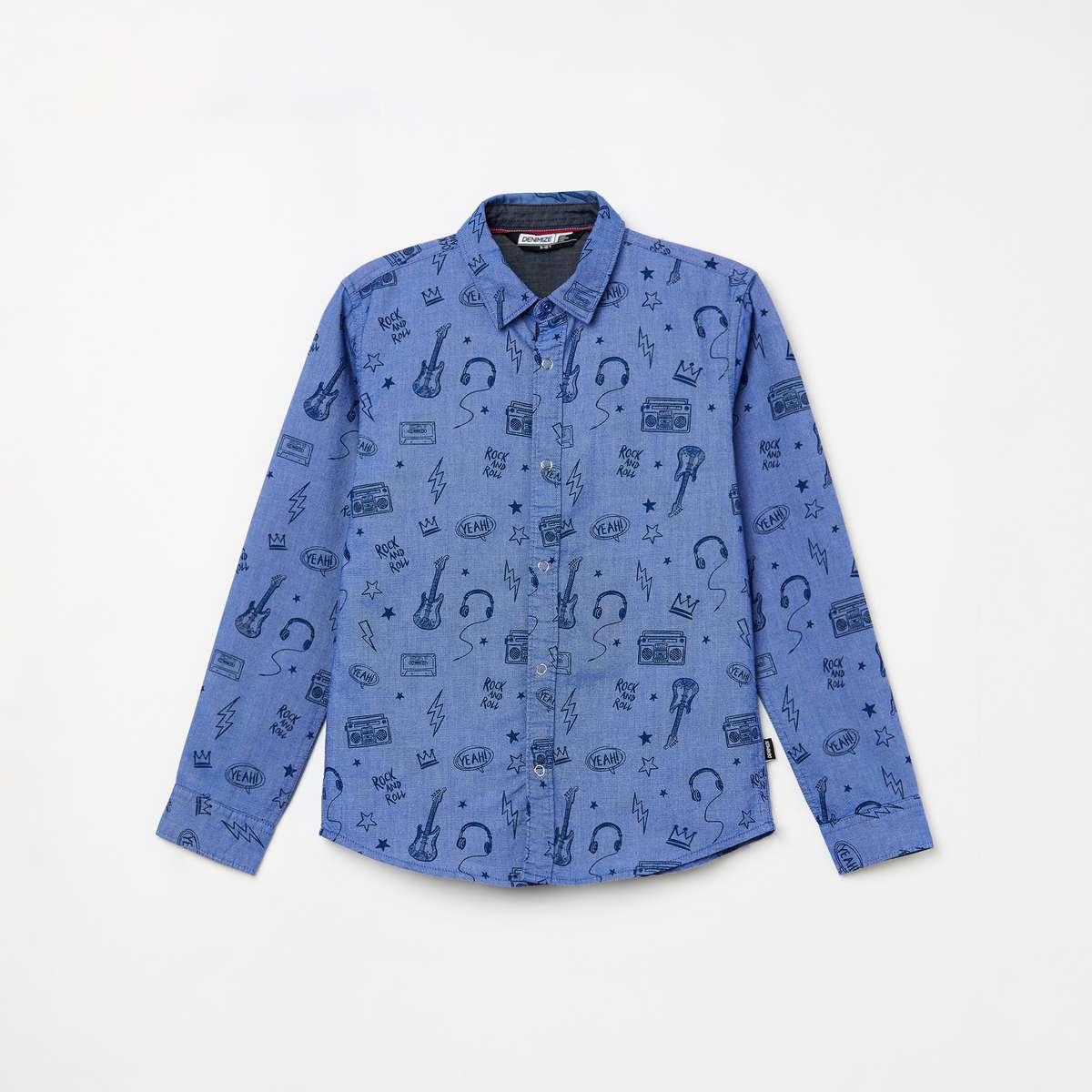1.DENIMIZE Boys Printed Casual Shirt