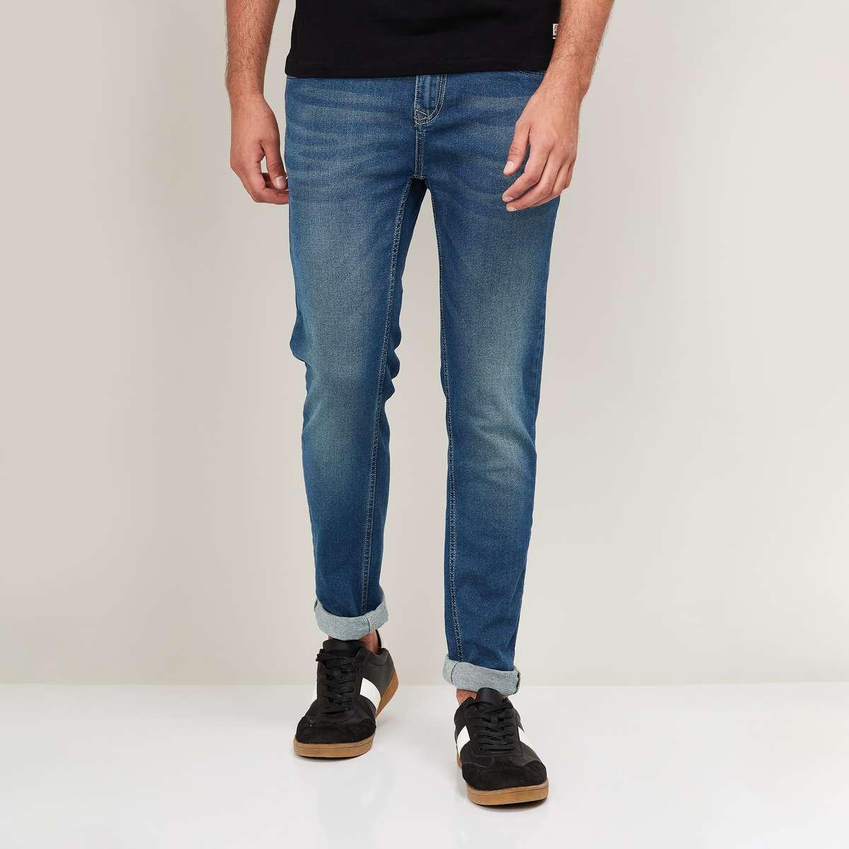 2.DENIMIZE-Men-Stonewashed-Slim-Tapered-Fit-Jeans