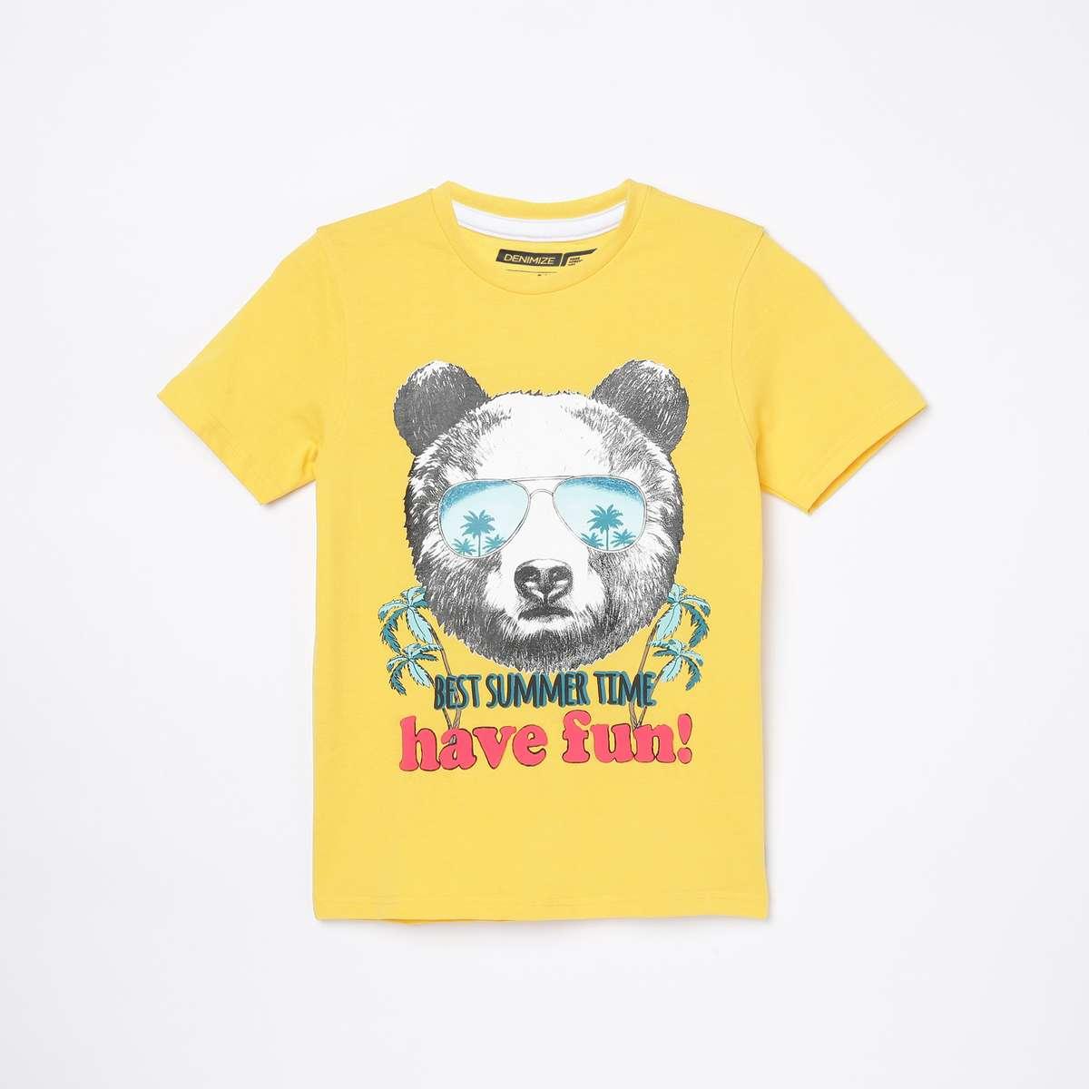 4.DENIMIZE Boys Graphic Print Crew Neck T-shirt
