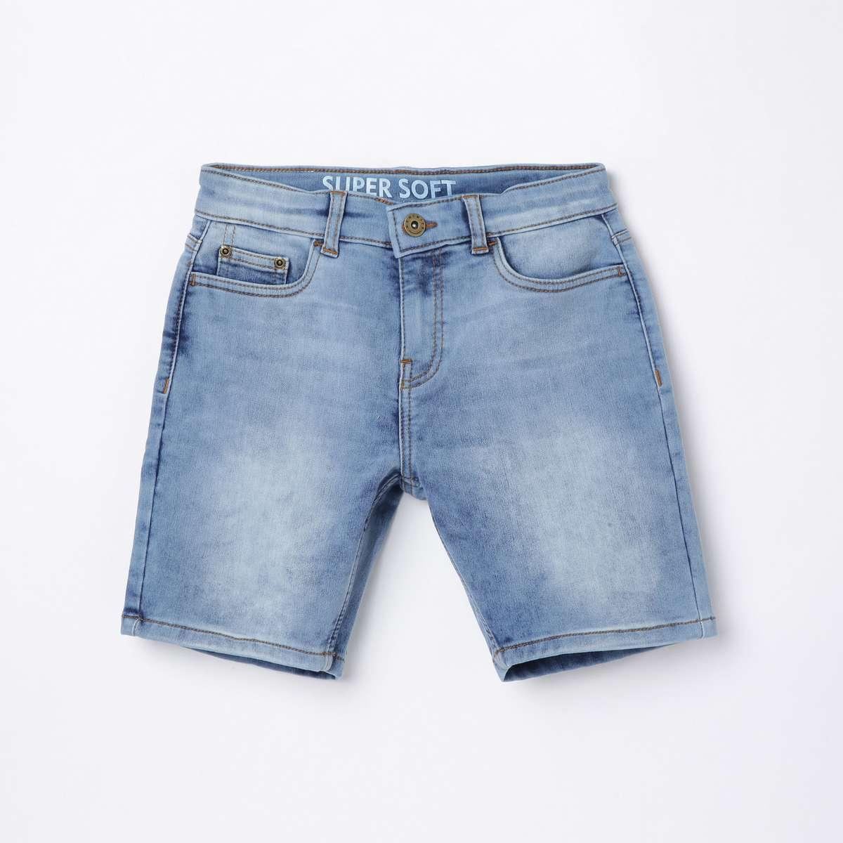 5.DENIMIZE Boys Solid Denim Shorts
