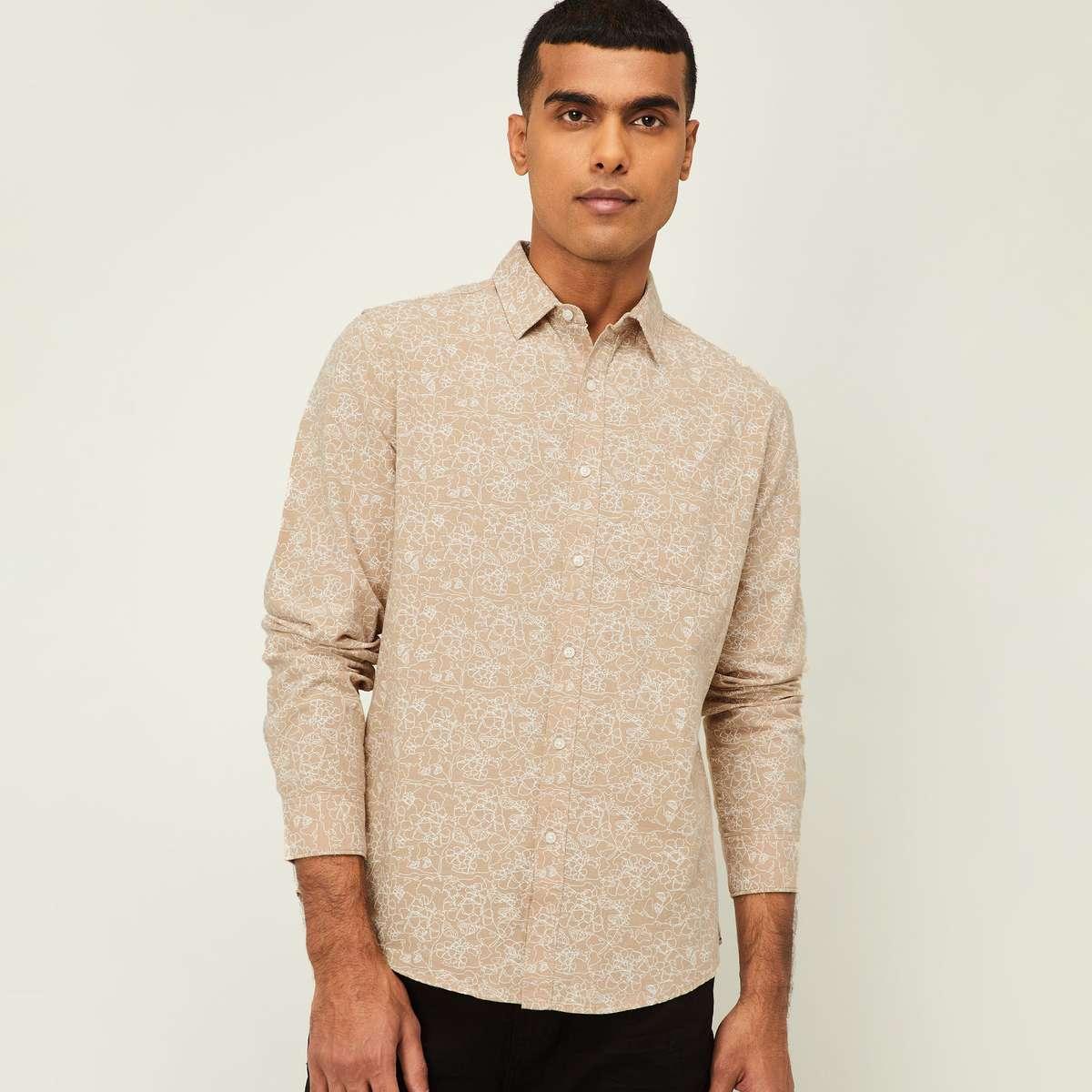 5.DENIMIZE Men Printed Regular Fit Casual Shirt