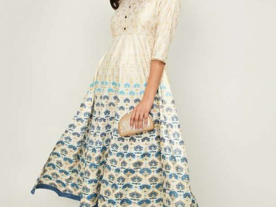 AURELIA Women Printed Midi Dress