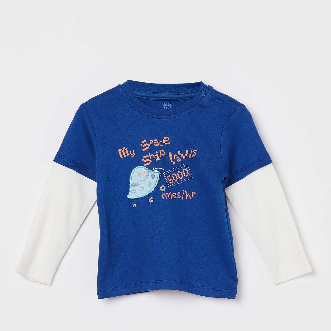 FS MINI KLUB Printed Crew-Neck T-shirt lifestyle online shopping