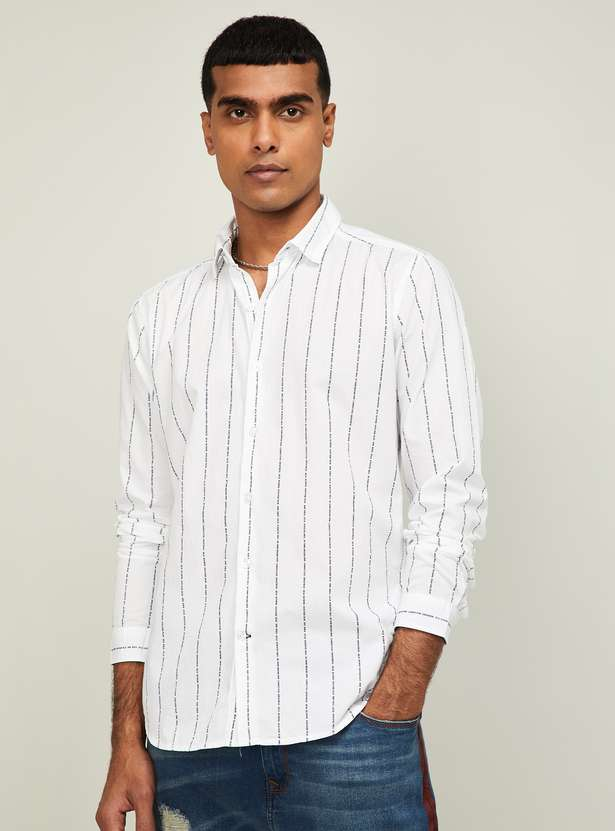 UCLA Men Printed Full Sleeves Slim Fit Casual Shirt