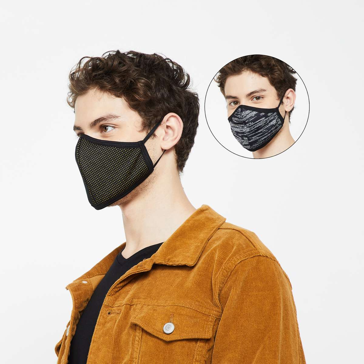 2.FAME FOREVER Men Reusable Masks - Pack of 2