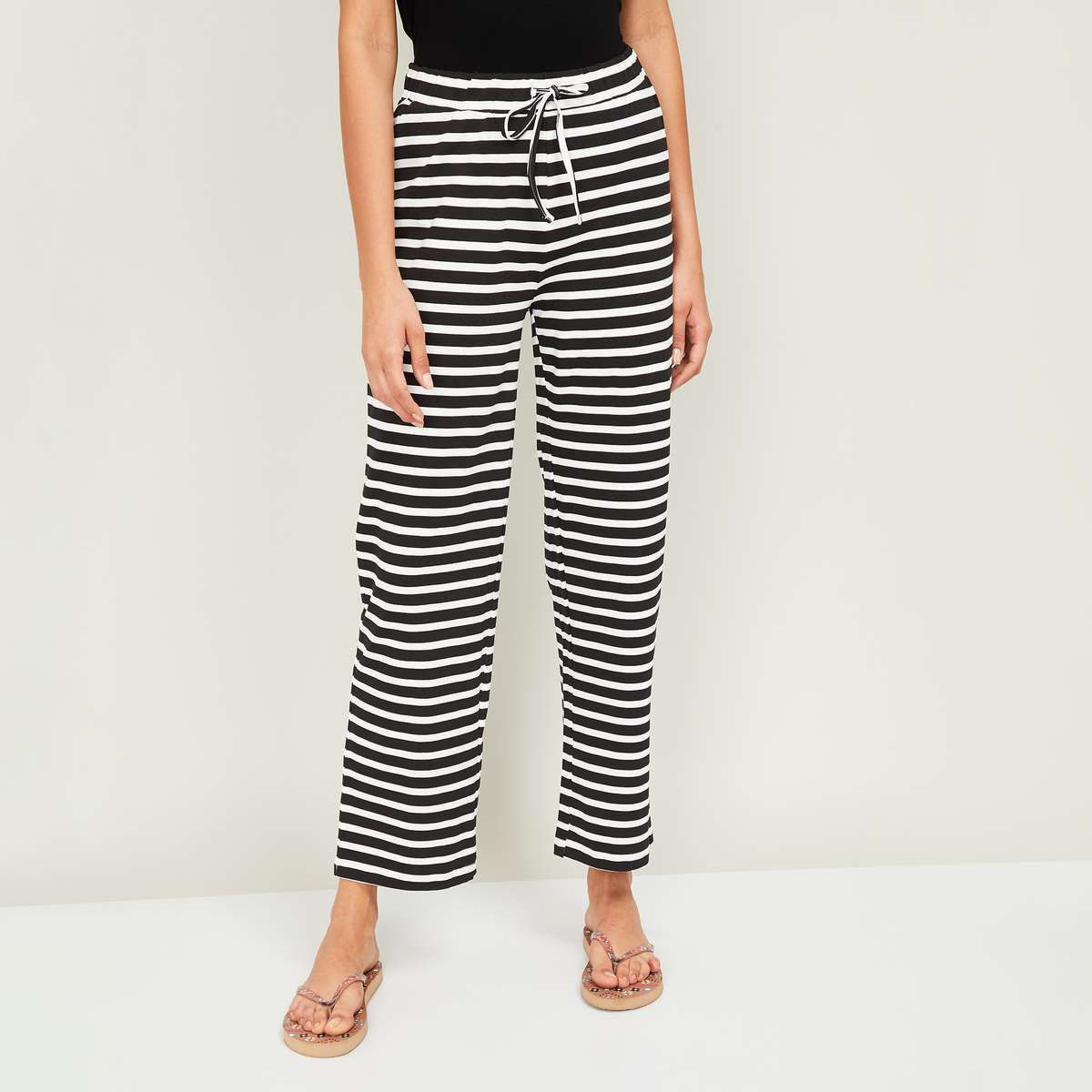 2.GINGER Women Striped Pyjama Pants