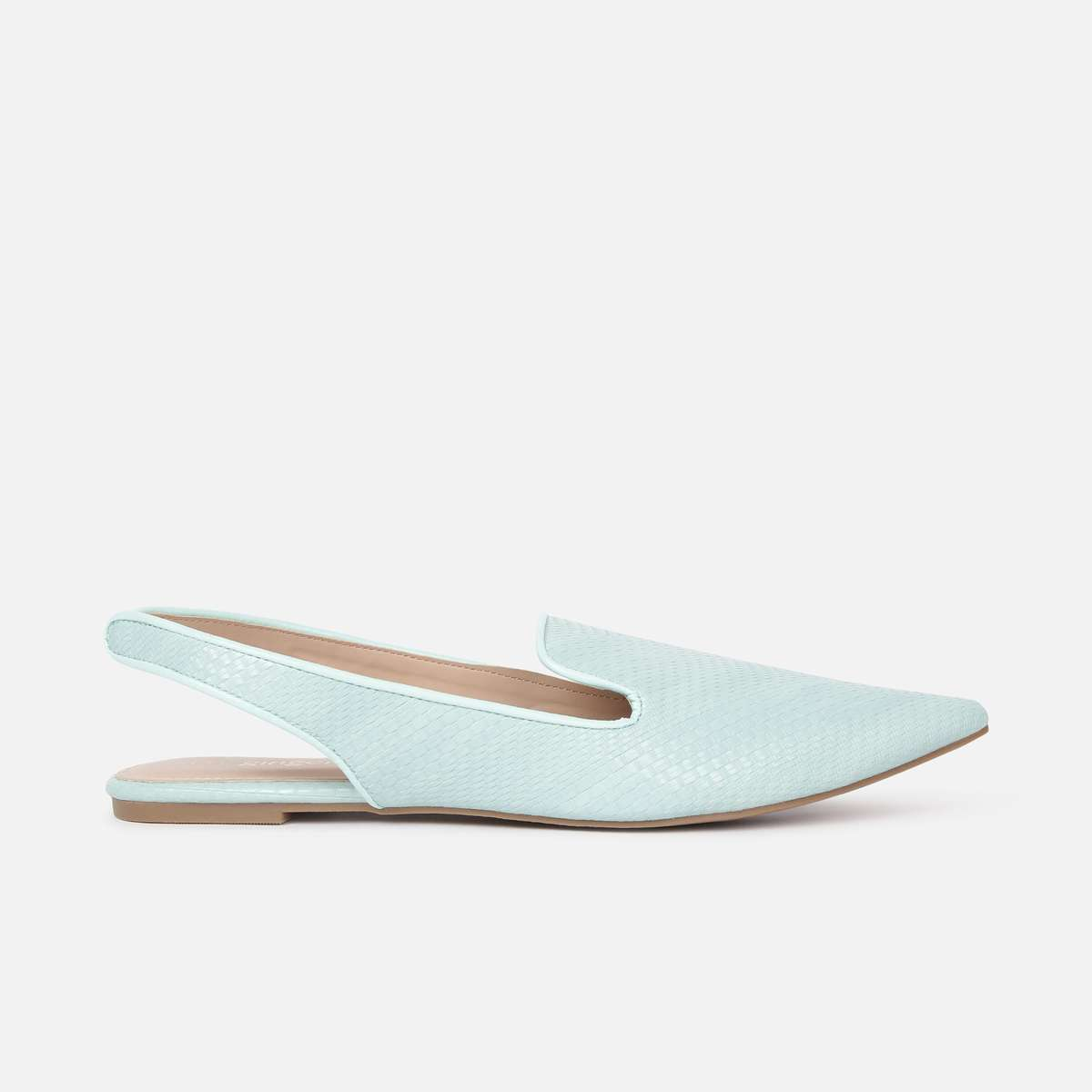 2.GINGER Women Textured Pointed Toe Flat Shoes