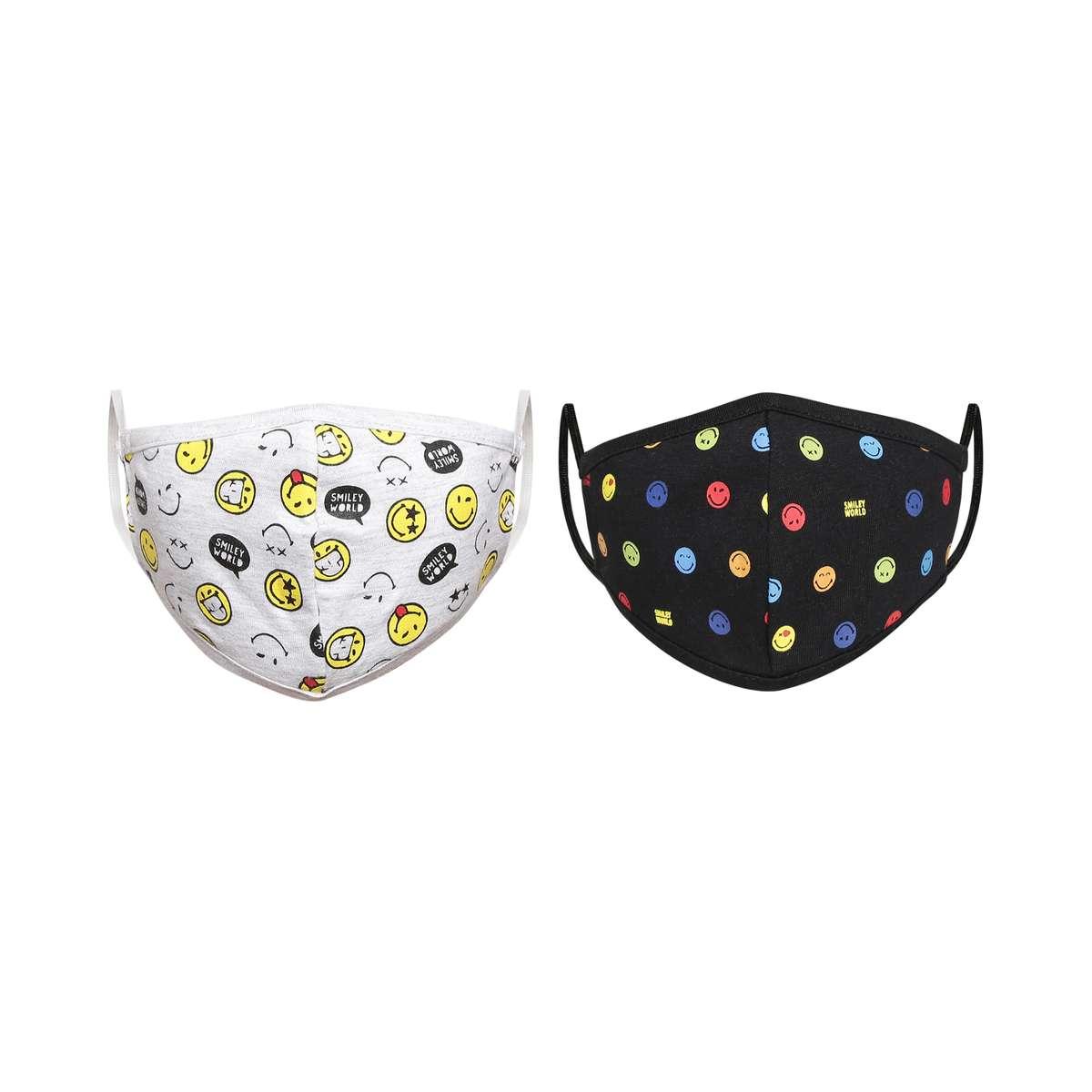 2.SMILEYWORLD Kids Printed Reusable Face Mask - Pack of 2