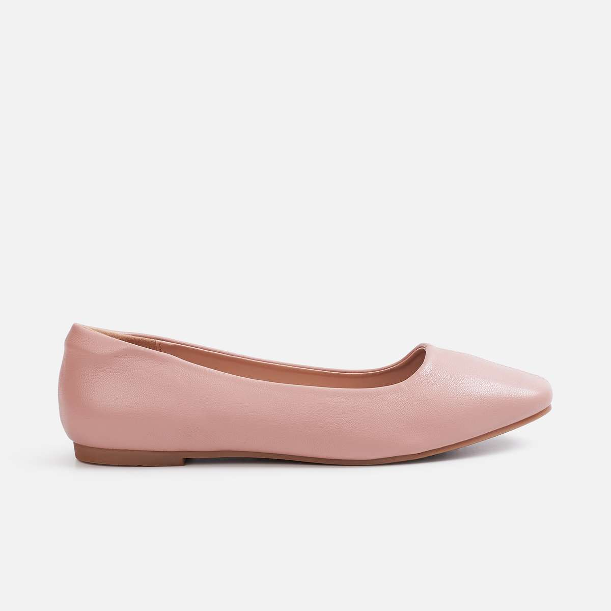 3.ALLEN SOLLY Women Solid Round Toe Ballerinas