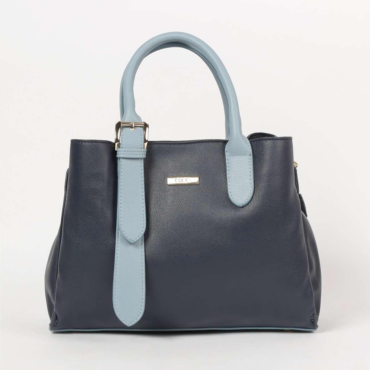 3.CODE Women Solid Snap Button Closure Handbag