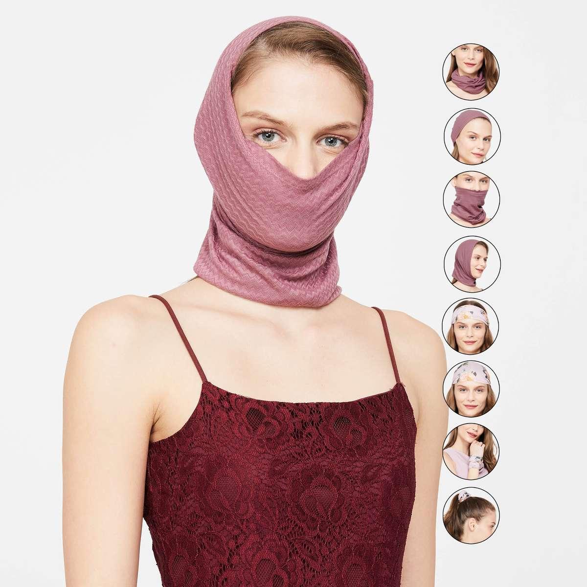 3.GINGER Women Printed Multipurpose Masks - Pack of 2