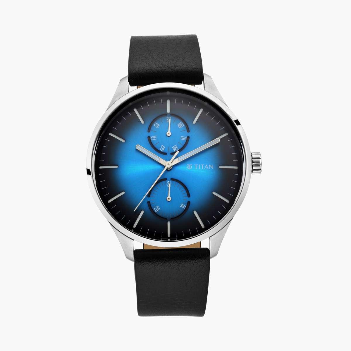 4.TITAN Men Solid Analog Watch- 1833SL03