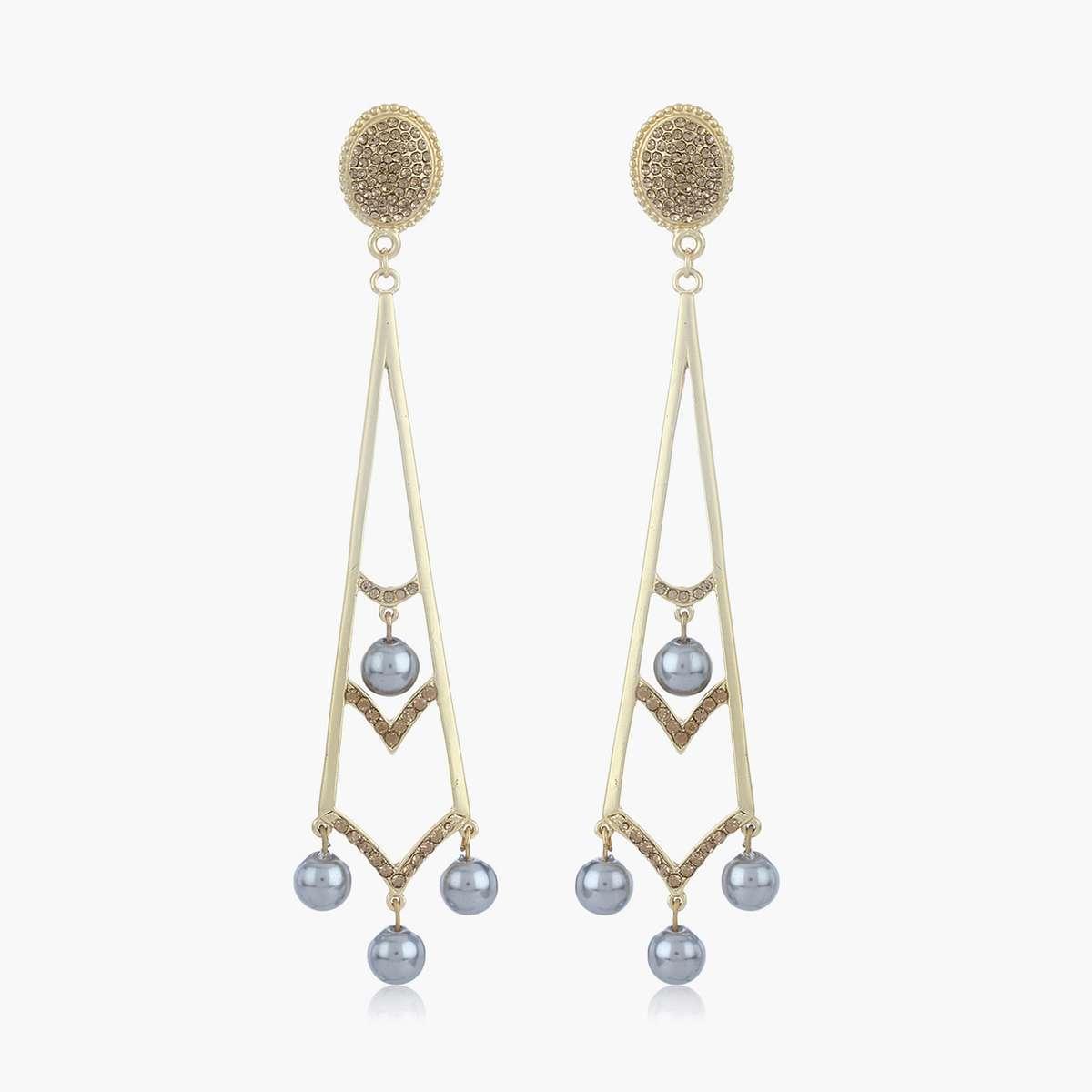 5.ESTELE Embellished Drop Earrings5.ESTELE Embellished Drop Earrings