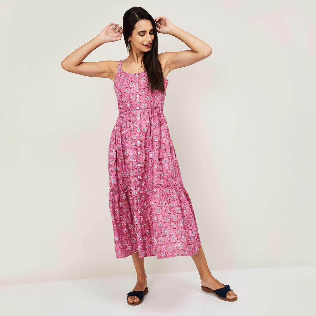 6.COLOUR ME Kyra Women Printed Ethnic A-Line Dress