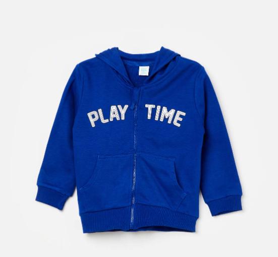 Clothing Brands For Kids - FS MINI KLUB Printed Hooded Sweatshirt