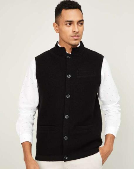 Colorplus - Men Solid Nehru Jacket
