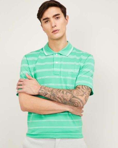 Colorplus - Men Striped Polo T-Shirt