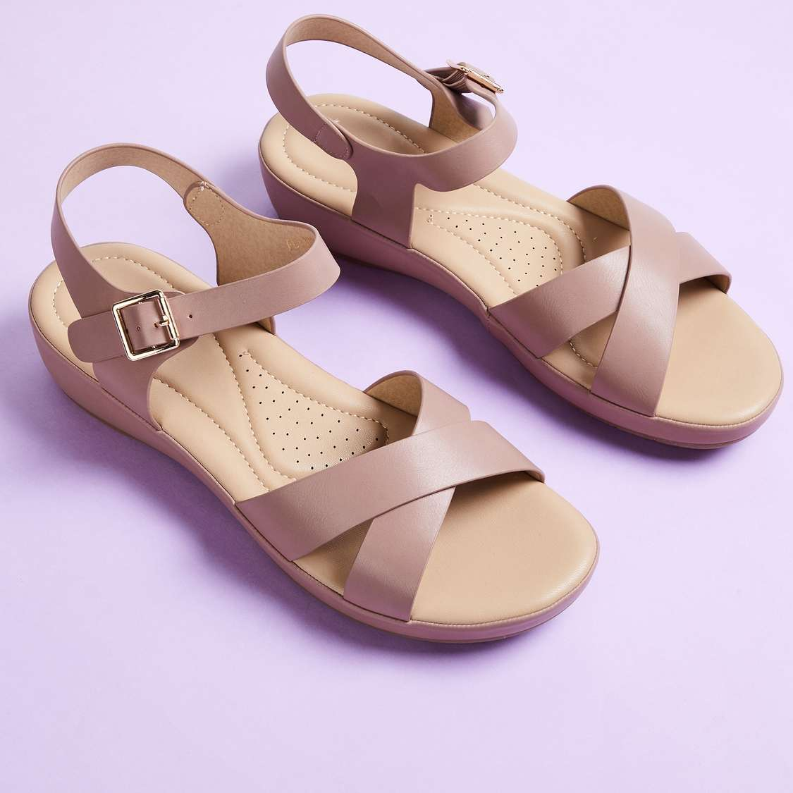 GINGER Women Solid Flatform Sandals