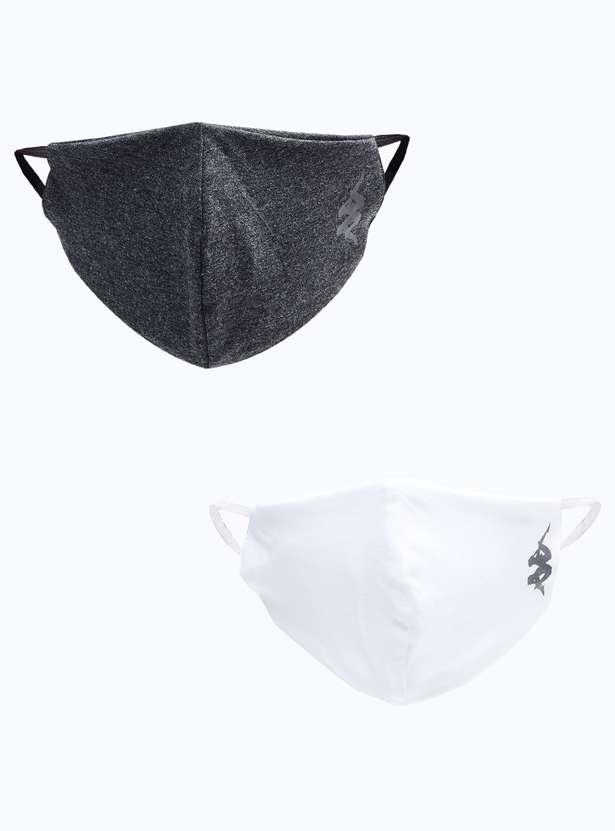 KAPPA Men Textured Reusable Masks - Pack of 2