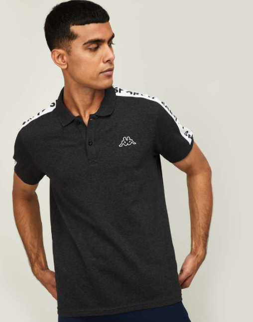 Kappa Clothing - Men Solid Regular Fit Polo T-shirt