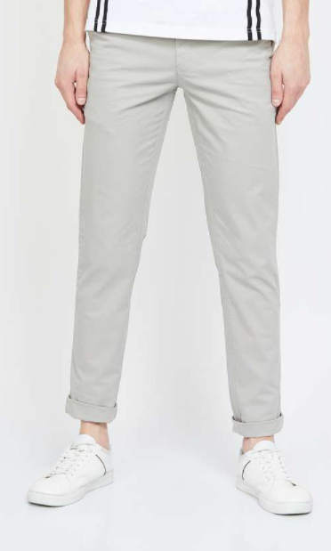Work from home outfits - COLORPLUS Textured Slim Fit Chinos