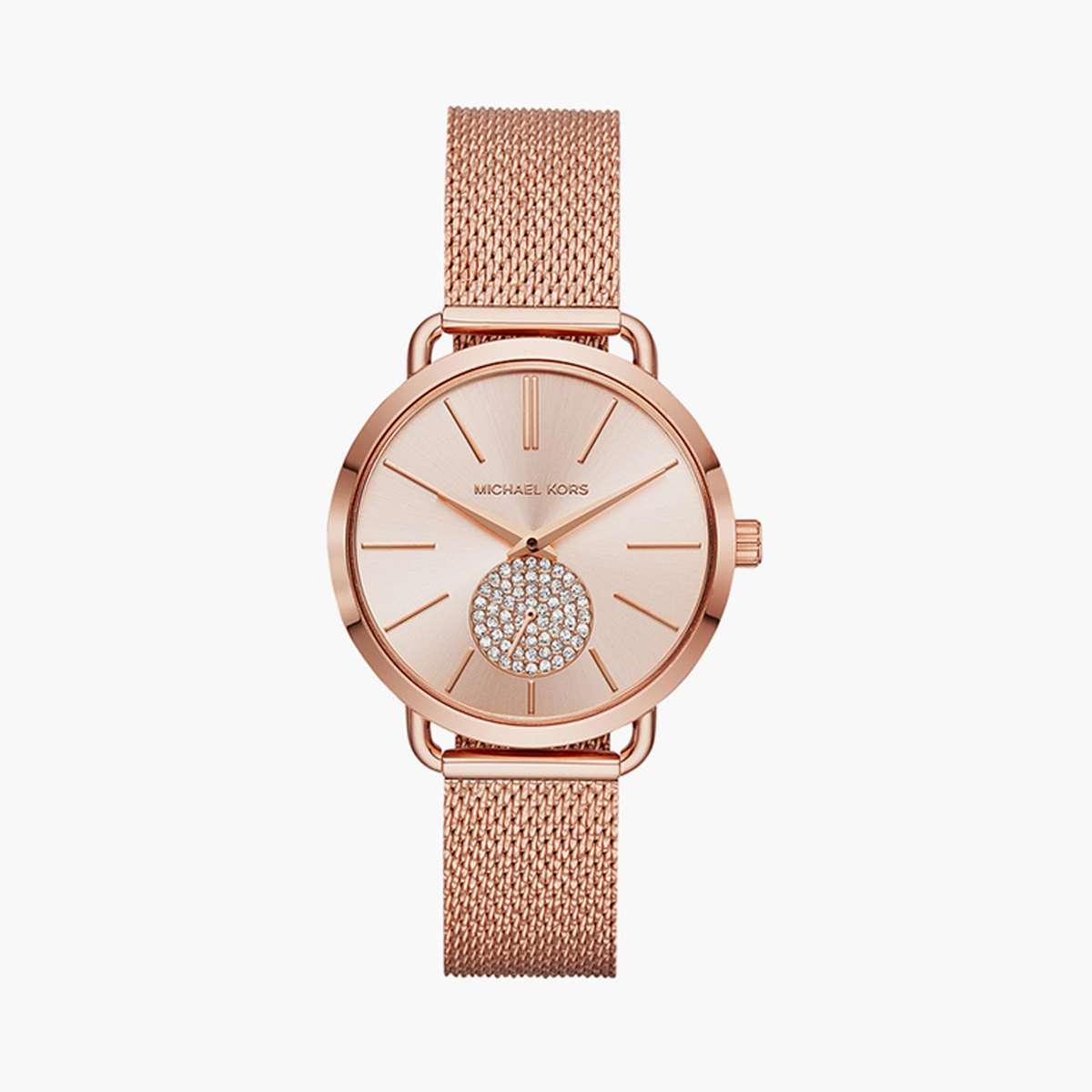 1.MICHAEL KORS Women Embellished Analog Watch- MK3845
