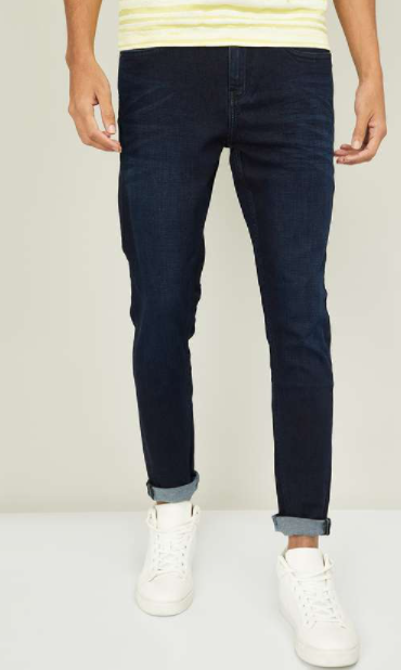 BOSSINI Men Stonewashed Skinny Fit Jeans - Top jeans brands in india