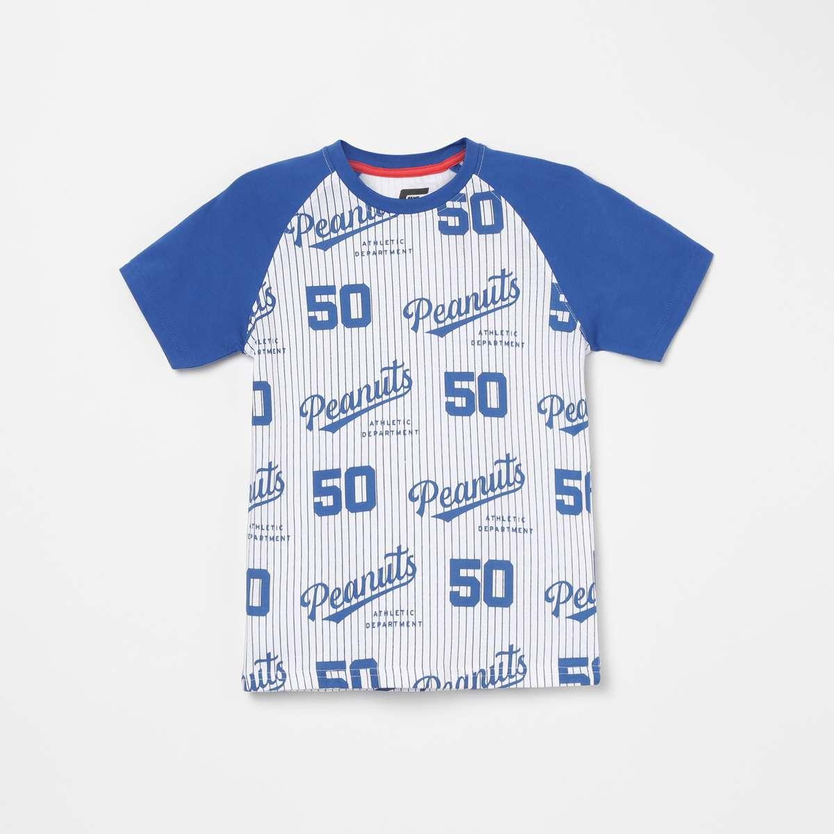 FAME FOREVER KIDS Boys Printed Crew Neck T-shirt