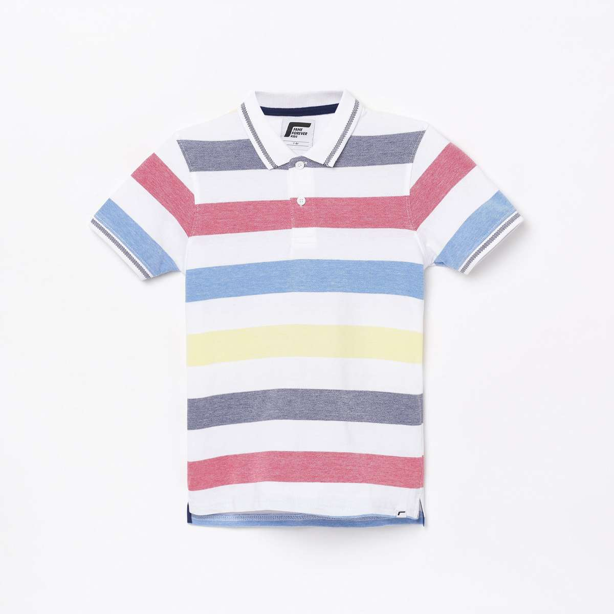 FAME FOREVER KIDS Boys Striped Polo T-shirt