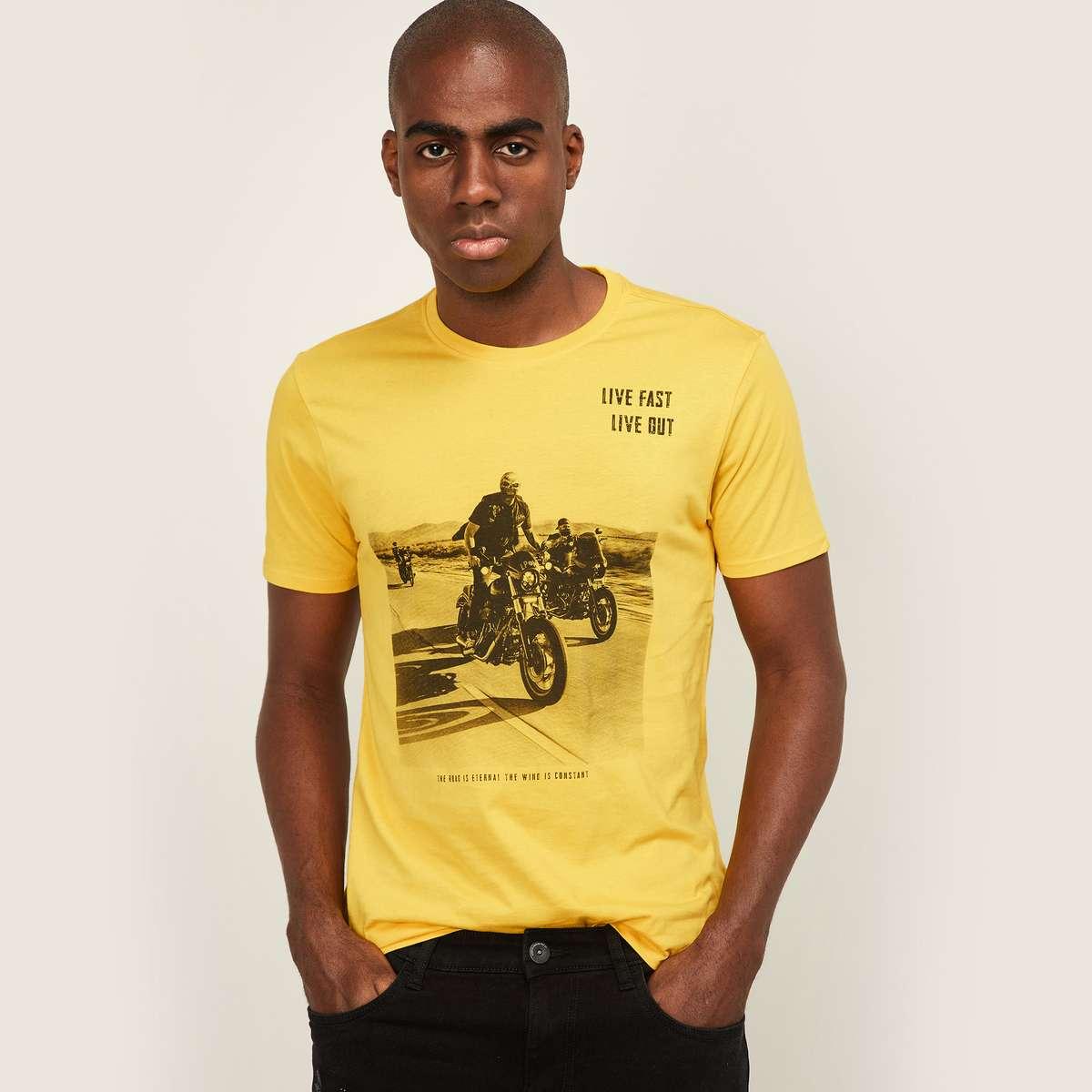 FORCA Men Printed Crew Neck T-Shirt