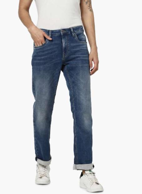 JACK & JONES Men Stonewashed Regular Fit Jeans - Types of jeans for men
