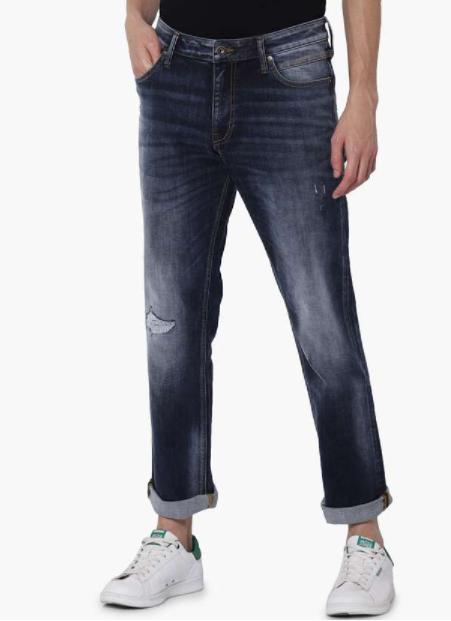 JACK & JONES Men Stonewashed Regular Straight Fit Jeans